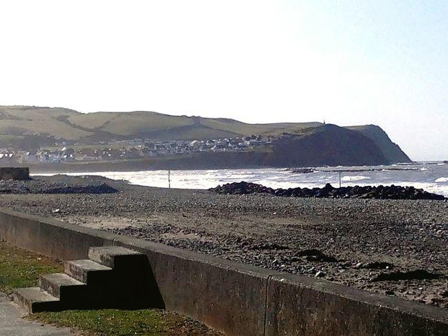 Sea Seaside Wales Borth Beach