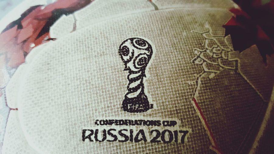 Close-up Text Football Krasava