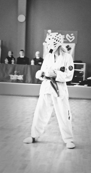 Taekwondo Blackbelt Blackandwhite