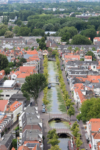 Panoramic Delft view Delft Green Netherlands Panoramic Roof Trees Architecture Beauty Building Building Exterior Built Structure Canal Ceramic City Cityscape Day Europe High Angle View Nature Outdoors River Summer TOWNSCAPE Wallpaper Water