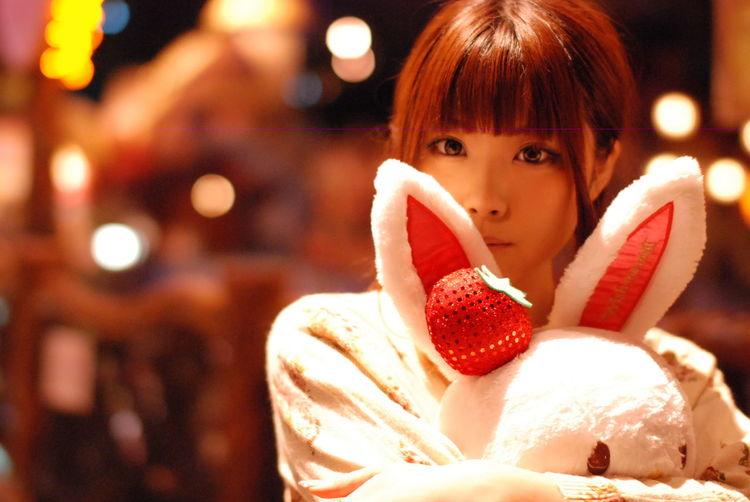 うさぎのぬいぐるみを抱くツインテちゃん。Model:りんすPotrait KAWAII Beatiful Sanrio