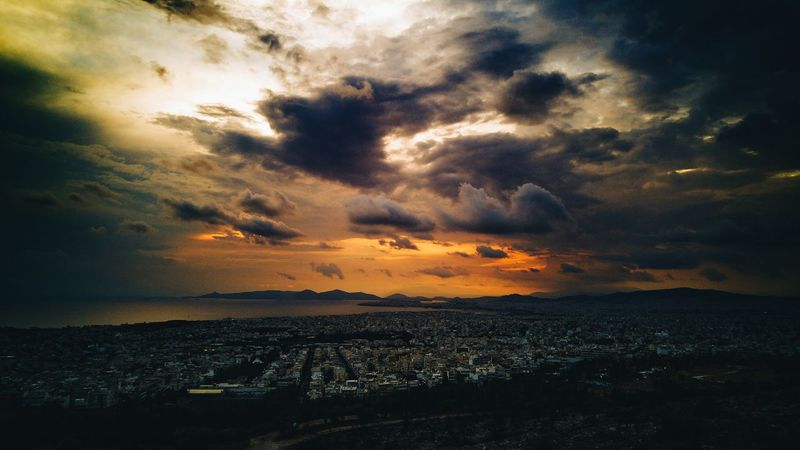 Athens, Greece Landscape #Nature #photography Cloudporn Clouds And Sky Cloud_collection  Fire Sunset #sun #clouds #skylovers #sky #nature #beautifulinnature #naturalbeauty #photography #landscape Greece Cityscapes City