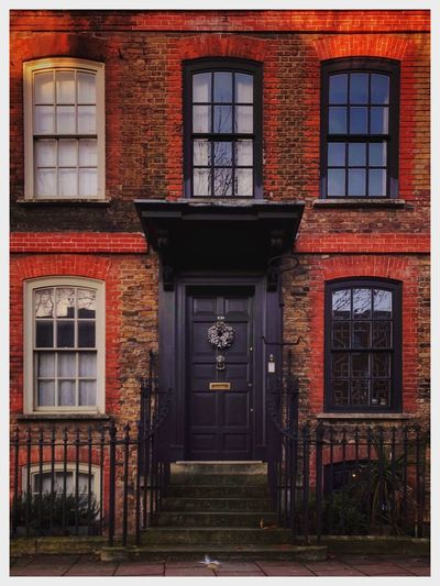 Doorscapes - Colorful London Doorscape Architecture Built Structure Building Exterior Door Entrance No People Window Outdoors Entry Day