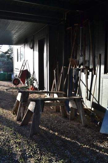 Yard Equipment Tools Craftsmanship  Building Craft Carpentry Work Shop Built Structure Day No People Architecture Nature Sunlight Old Metal Industry Garage