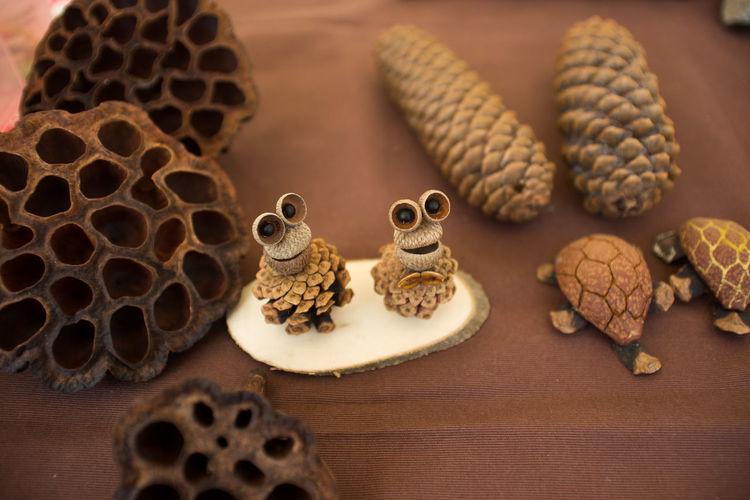 Close-Up Of Handmade Souvenirs