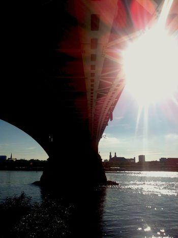 ...heatwave bridge Mainz-Kastel View Summer Hot, Hot, Hot Enjoying Life Architecture Sunshine Taking Photos
