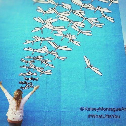 Kelseymontagueart Calivibes Muralart Memories Blue Birds Roadtrip Onlyincali