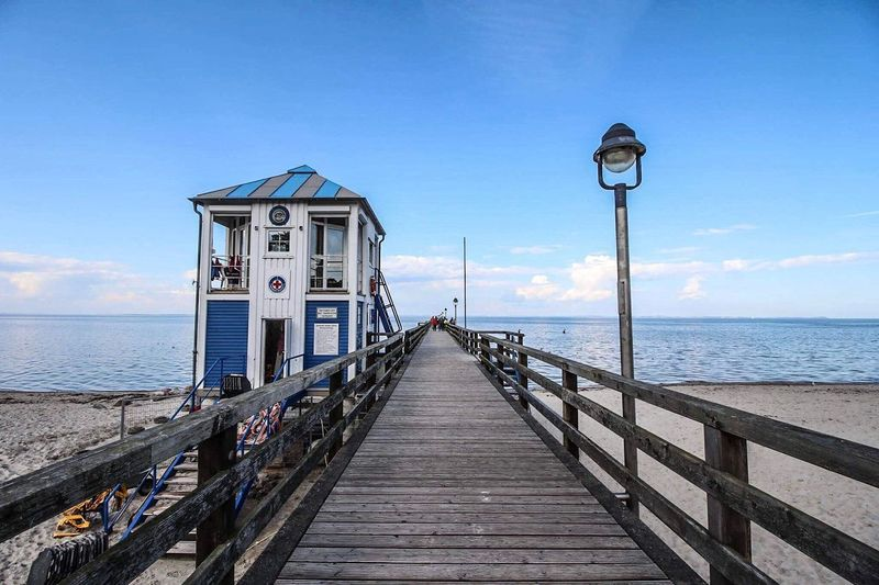EyeEm Selects Lubmin Seebrücke Ostsee Sea Water Pier Sky Nature Beach No People Horizon Over Water Cloud - Sky Greifswalder Bodden Mecklenburg-Vorpommern Canoneos700d Canonphotography Baltic Sea