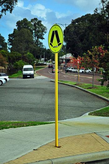 Road Sign Blue