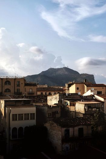 Palermo roofscape Cityscape City Mountain Apartment Residential Building Town House Sky Architecture Building Exterior