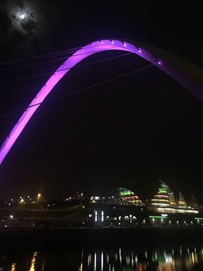 Newcastle Upon Tyne Newcastle Quayside Bridge Millennium Bridge Sage Gateshead