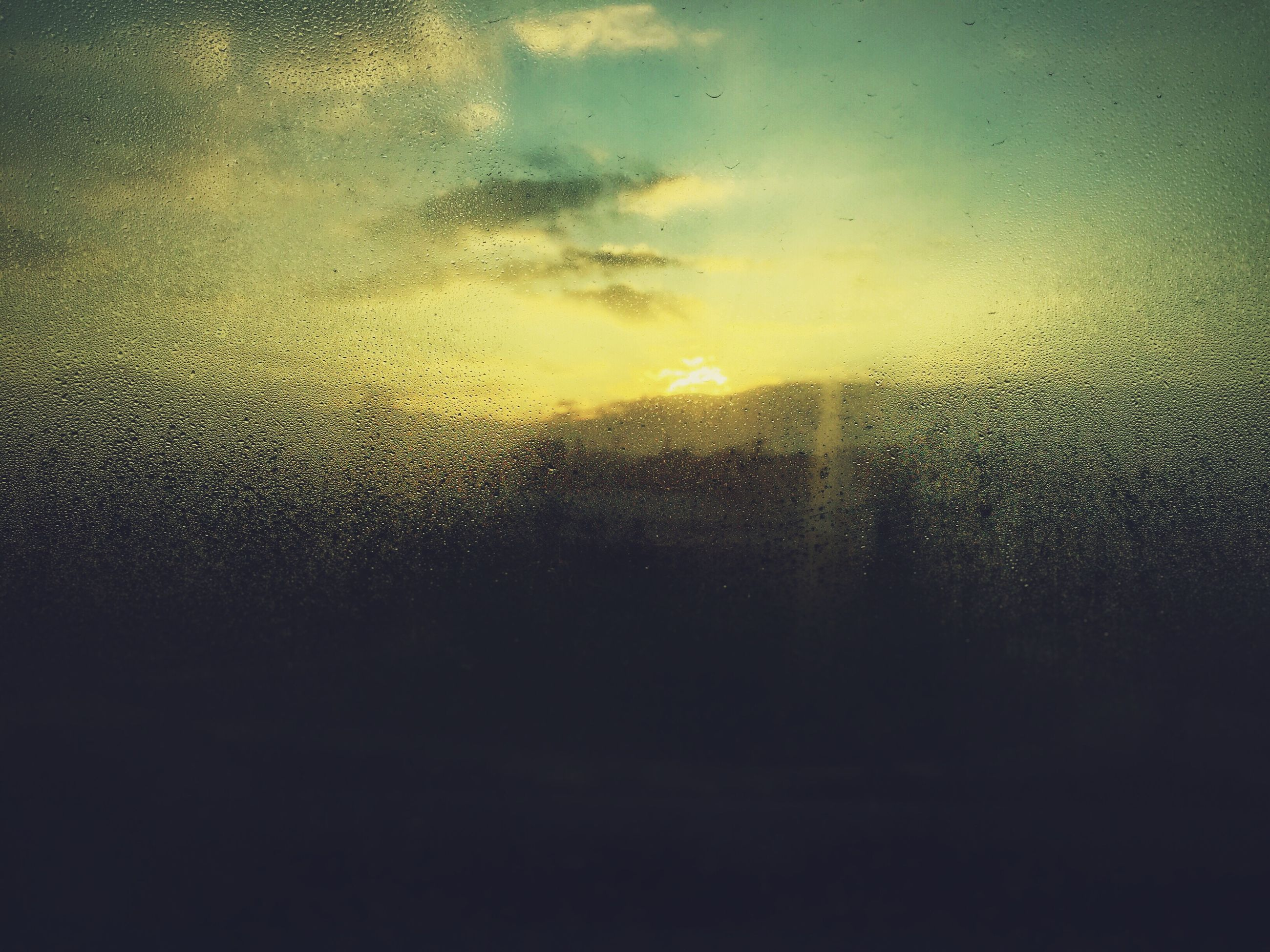 window, drop, wet, transparent, water, glass - material, sunset, rain, sky, indoors, weather, raindrop, backgrounds, full frame, glass, season, focus on foreground, silhouette, no people, cloud - sky