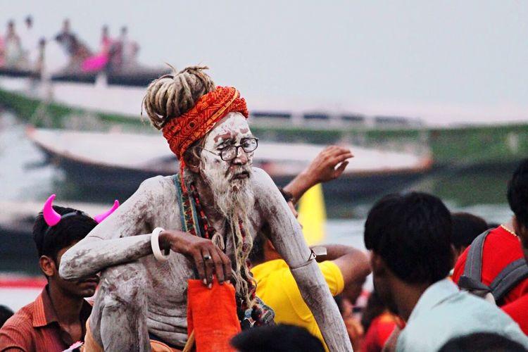 The pious one Ganga Ghats  Ghats Of Varanasi Varanasi India  Sage Incredible India Street Photography Streetphotography
