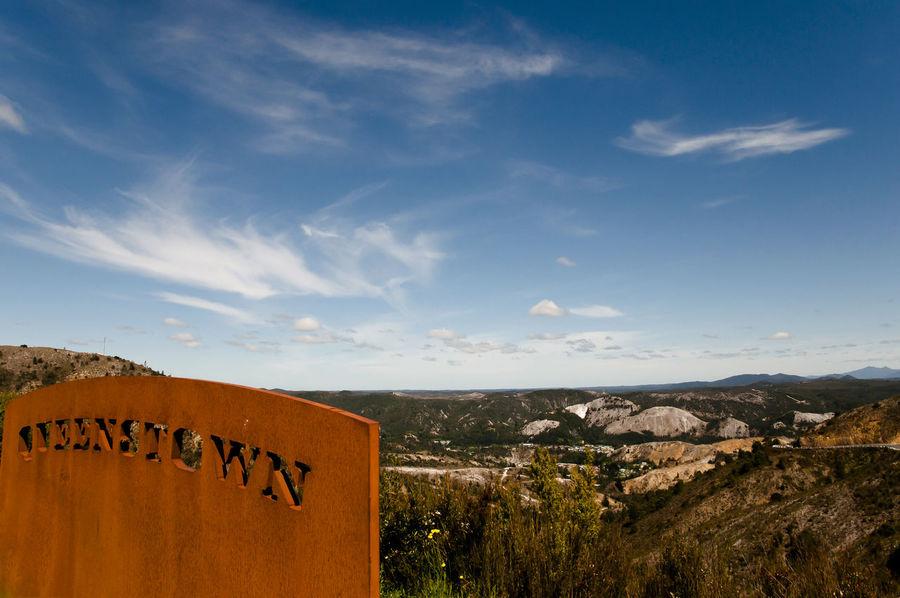 Queenstown - Tasmania Australia City City Sign Outdoors Queenstown Tasmania Welcome Sign