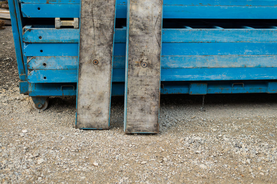 Blue Building Lights Building Site Construction Contract Site Job-site Love Road Works Site