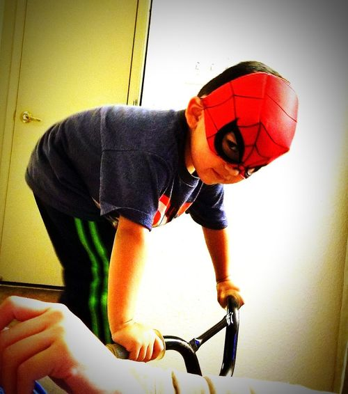 Spiderman Fights Back PricelessMoment Happiness Boys Smiling Child Children Only Childhood Enjoyment One Boy Only