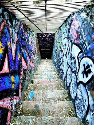 Graffiti Abandoned Gated  Go Higher