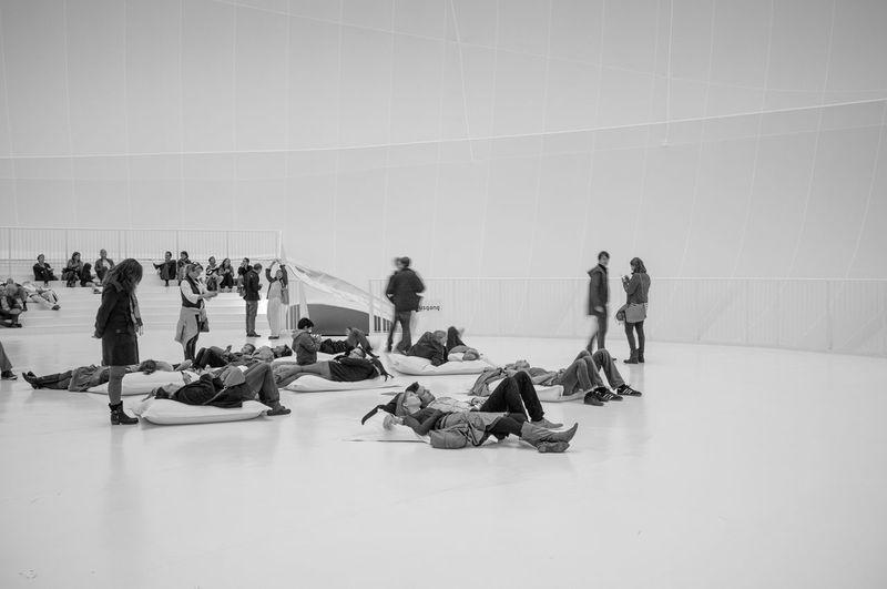 Bigairpackage Blackandwhite Christo Christo Exhibit Fuji X100 Gasometer Oberhausen Installation Art Pattern, Texture, Shape And Form Sculpture Soft Light Textures And Surfaces FujiFilm X100