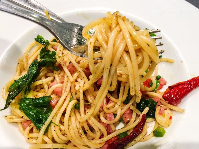 Lunch! Food Spaketty Ready-to-eat Italian Food Freshness Hot And Spicy Lunch Lunchtime Alone Food And Drink Enjoying A Meal