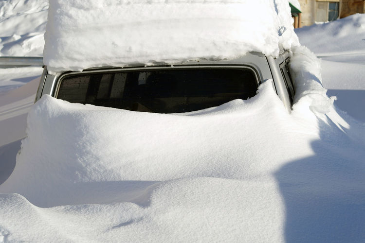 The car in snow Car Cold Temperature Day Mode Of Transport Nature No People Outdoors Snow Sunshine White Color Winter