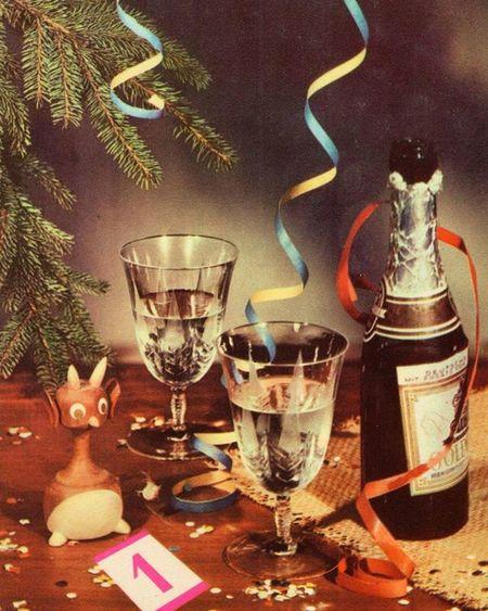 Открытка украинская, с чертиком - намёк на Гоголя? Sovietpostcards NewYear Christmas Retro Gogol гоголь новыйгод рождество открытки СССР