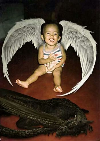 I was once an Angel lol...? Baby Picture It's A Girl