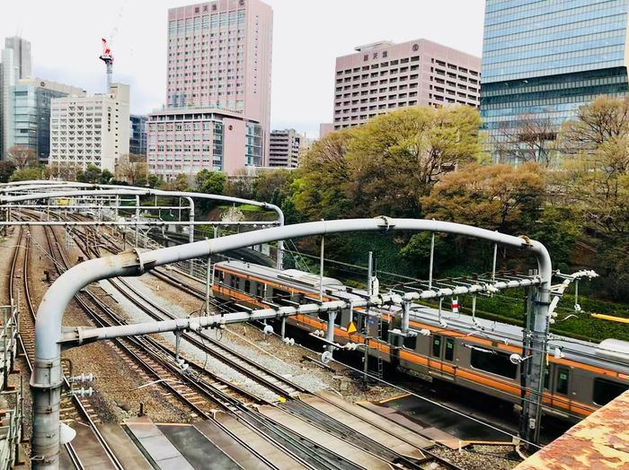Streetphotography IPhone Railway Japan Tokyo Spring Train Station City Built Structure Day Modern