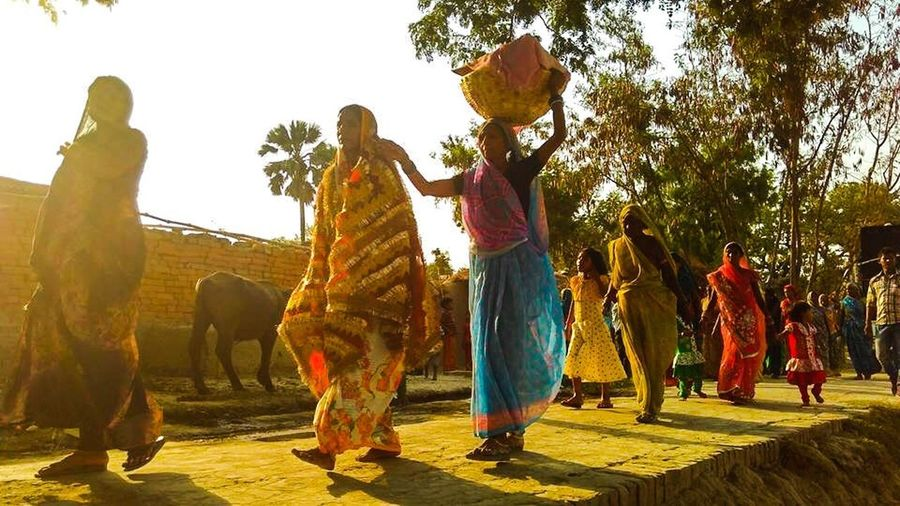 Paint The Town Yellow Indian Culture  Indiantradition Villagemarriage Evening Ghazipur_uttarpradesh India The Week On EyeEm Connected By Travel