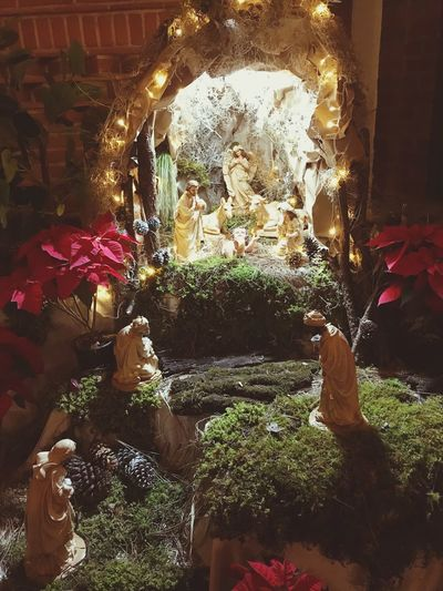 Pesebre Reyes Magos Christmas Decoration Navidad Nacimiento Indoors  No People Illuminated Business Celebration Abundance High Angle View Home Interior Decoration