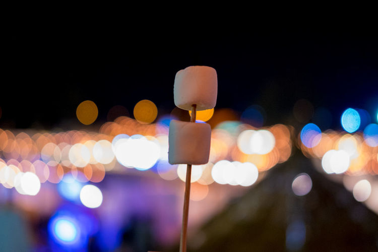 Marshmallows In Stick At Pingfai Festival During Night
