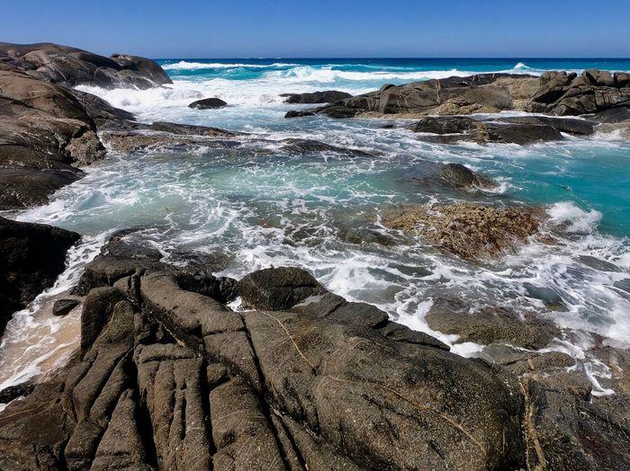 Rocks And Water Water Sea Beach Land Scenics - Nature Sky Nature First Eyeem Photo