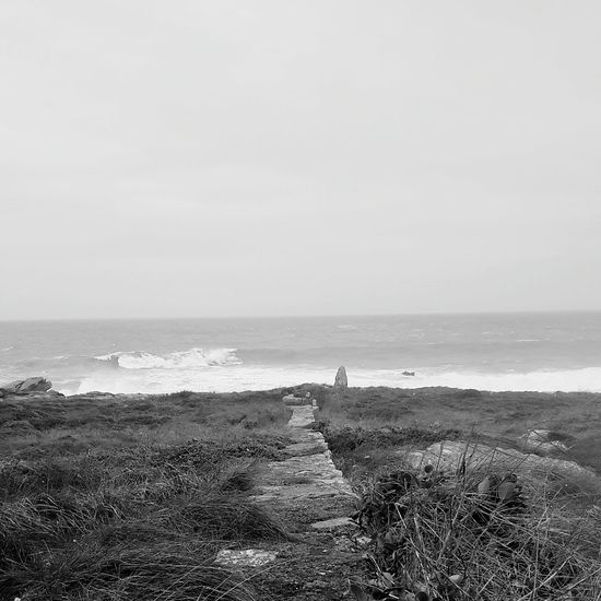 Under The Rain Taking Photos PhonePhotography Ocean View Bretagne Lovers Blackandwhitephotography