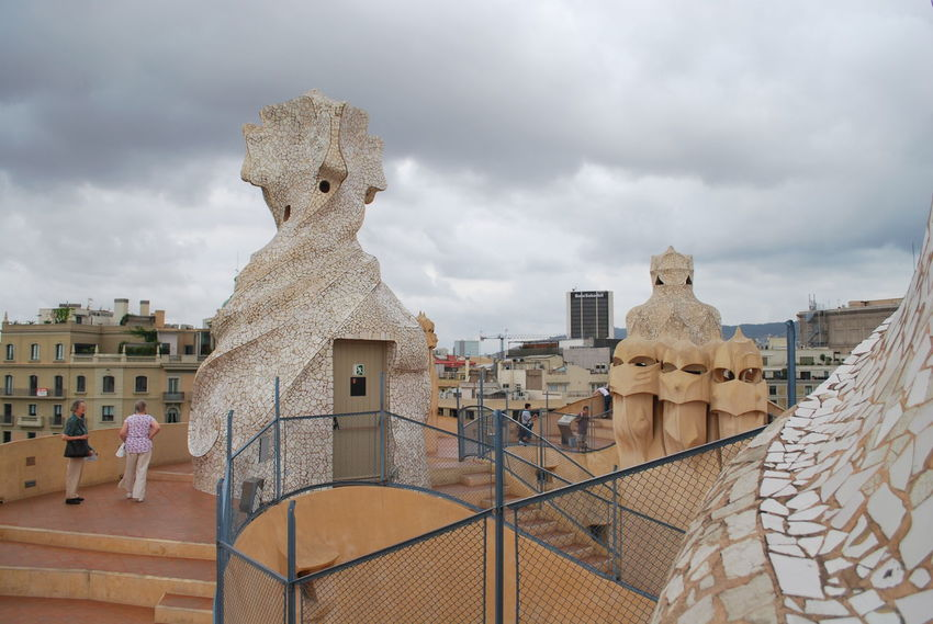 Architecture Barcelona Barcelona, Spain Casa Mila ( La Pedrera ) Casa Milà Gaudì Day Gaudi No People Outdoors Roof Rooftop Sky SPAIN Statue