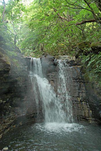 温泉の滝 Waterfall 温泉 Nature