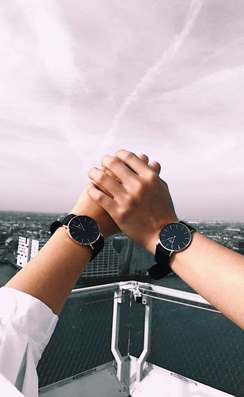 Him&I Danielwellington Human Hand Human Body Part Cloud - Sky Sky Wristwatch One Person Day Real People