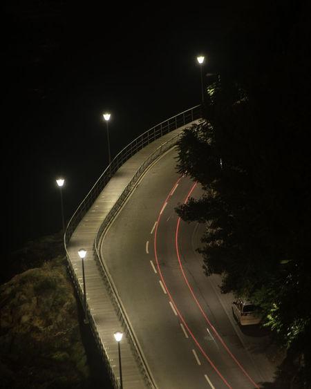 Ways Of Seeing Crime Scene Dark City Light Motion Night No People Street Track Transportation HUAWEI Photo Award: After Dark Capture Tomorrow