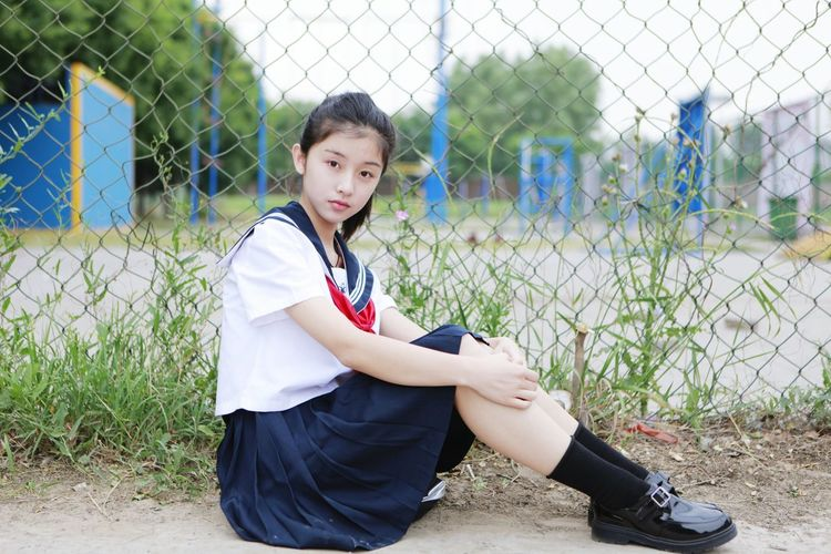 Child Children Only One Person Childhood Baseball - Sport People Sitting One Girl Only Leaning Day Sport Playing Field Girls Outdoors Smiling Adult