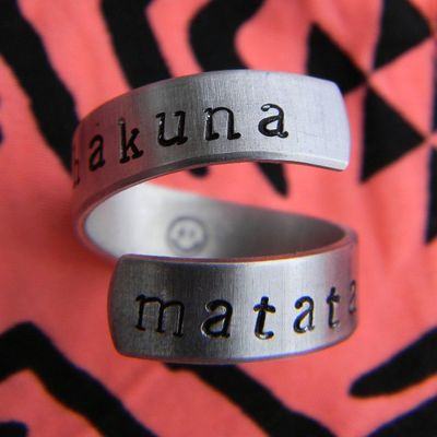 Ring Hakuna Matata Hakunamatata smile fashion silver