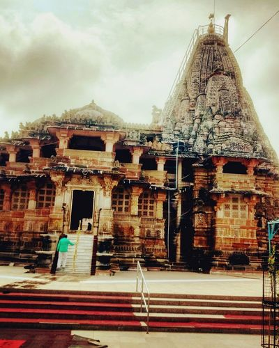 Built Structure Architecture Travel Destinations Outdoors Sky Day Temple - Building Heritage Lord Vishnu Monsoon