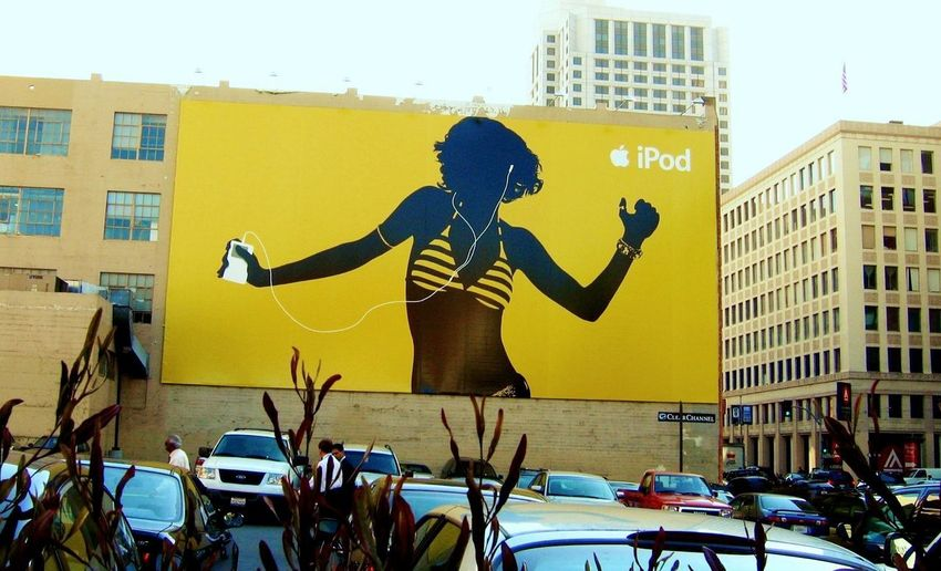 San Francisco Wall Art Apple Advertising Architecture Building Exterior City City Life IPod Advert