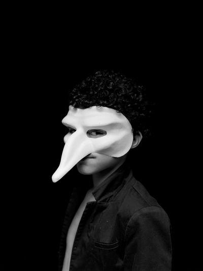 B. Acros100 Mask EyeEm Film Photography One Person Clothing Studio Shot Black Background Portrait Indoors  Unrecognizable Person Headshot