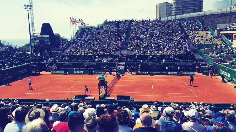 # #court #dominic #rolexmaster #clay Group Of People Large Group Of People Real People Stadium Performance