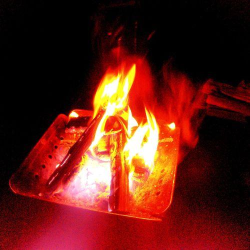 GWの焚き火 Camp Fire Trip Night 焚き火