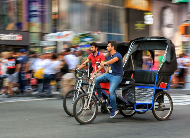 NYC transport Transportation Blurred Motion Cycling