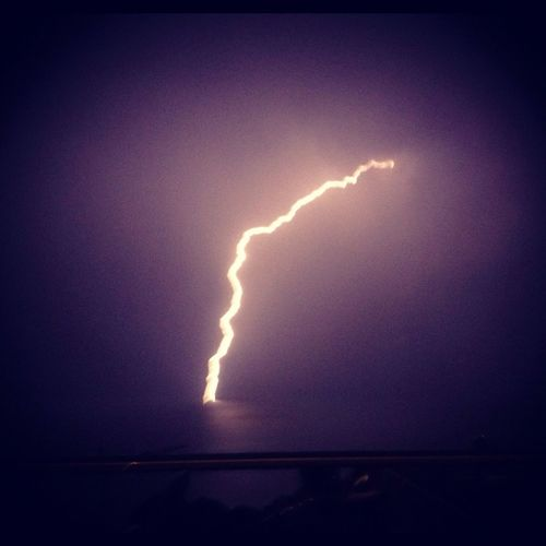 Lightning Storm Over Lake Leman (picture Taken With Iphone 4s)