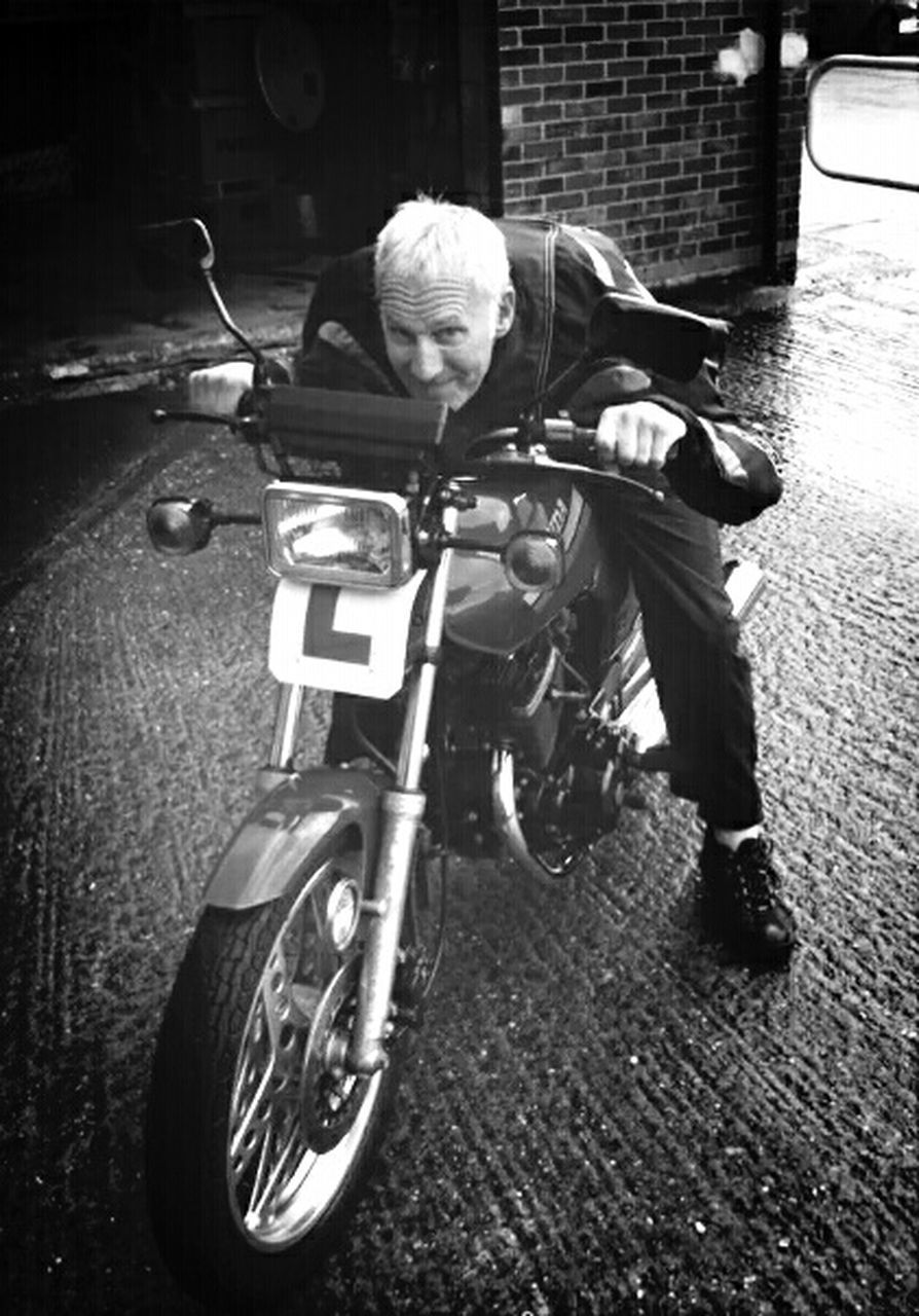 motorcycle, transportation, one person, land vehicle, mode of transport, night, outdoors, real people, men, helmet, full length, one man only, biker, adult, only men, people, adults only