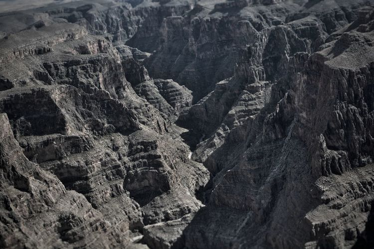 High angle view of rock formations