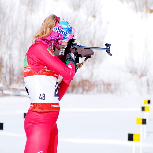Biathlon Cold Temperature Shooting Shooting Girl Skiing Snowing Sports Photography Winter