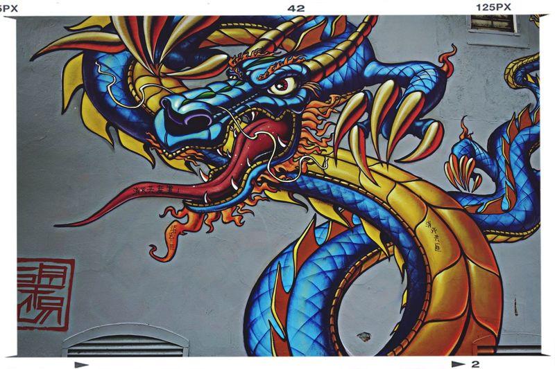 the Dragon Graffiti Streetart Urban Art By JUNIQE