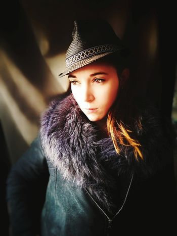 Lisa & Borsalino. Hat Borsalino Portrait Photography Young Adult Fotomobile Portrait Of A Woman Photophone  Mobilephotography One Person Portrait People Fashion Girls One Girl Only Modern Day